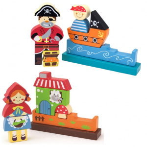 Edushape wooden puzzle pirate red riding hood unboxed